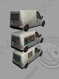 3d model transit van