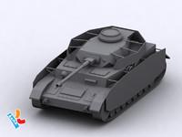 medium pzkpfw iv 3d model