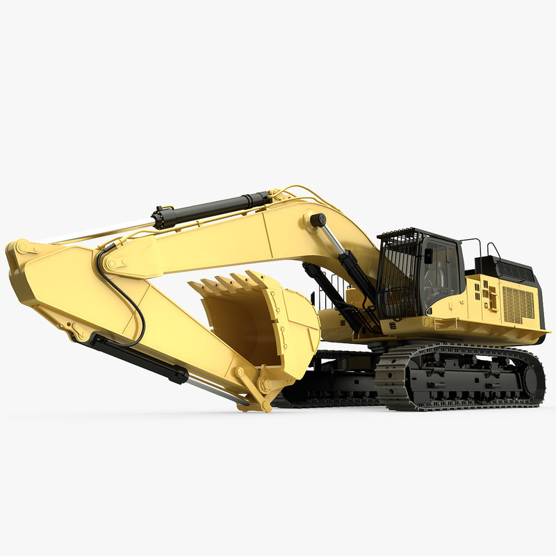excavator 365cl 3d obj