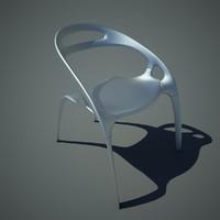 aluminum chair 3d model