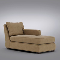 Crate and Barrel - Axis Right Arm Sectional Chaise