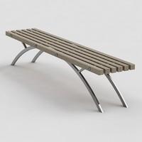 urban furniture bench 3d model