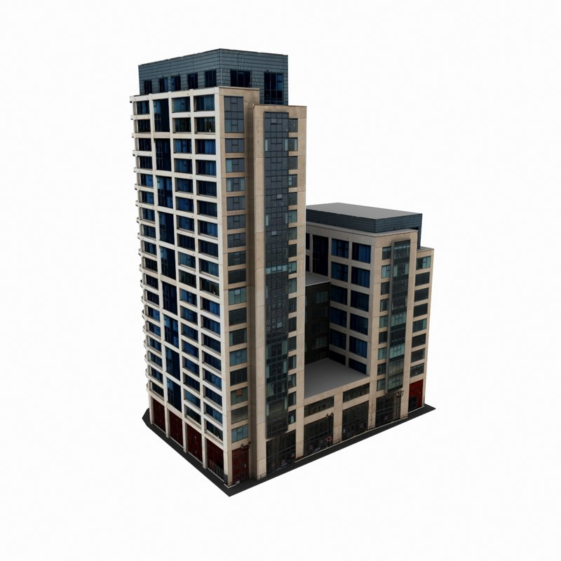 3d residential office building 3d house builder online
