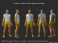 3d Model - Male Underwear & Suit