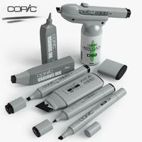 3ds max copic markers set
