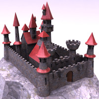 3d cartoon castle