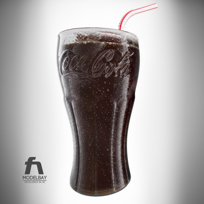 Detailed Coca Cola Glass and Can