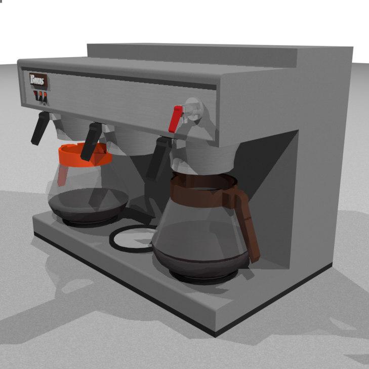 coffee machine restaurant 3d model