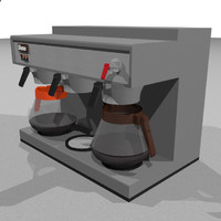 coffee machine restaurant 3d model
