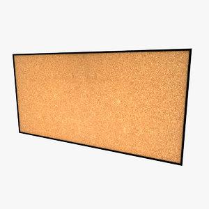 corkboard display 3d model