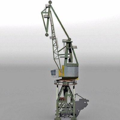 dock crane 3d 3ds