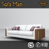 3d kansas sofa