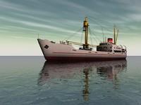polar cargo ship kista 3d model