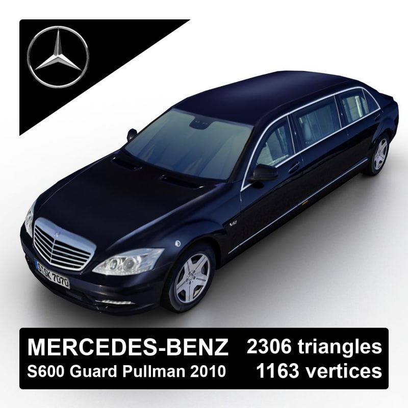 2010 mercedes-benz s600 guard 3d model