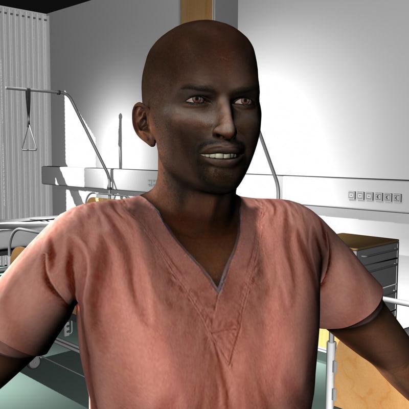 3d model male medical staff