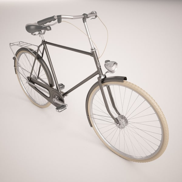 3d old bicycle model