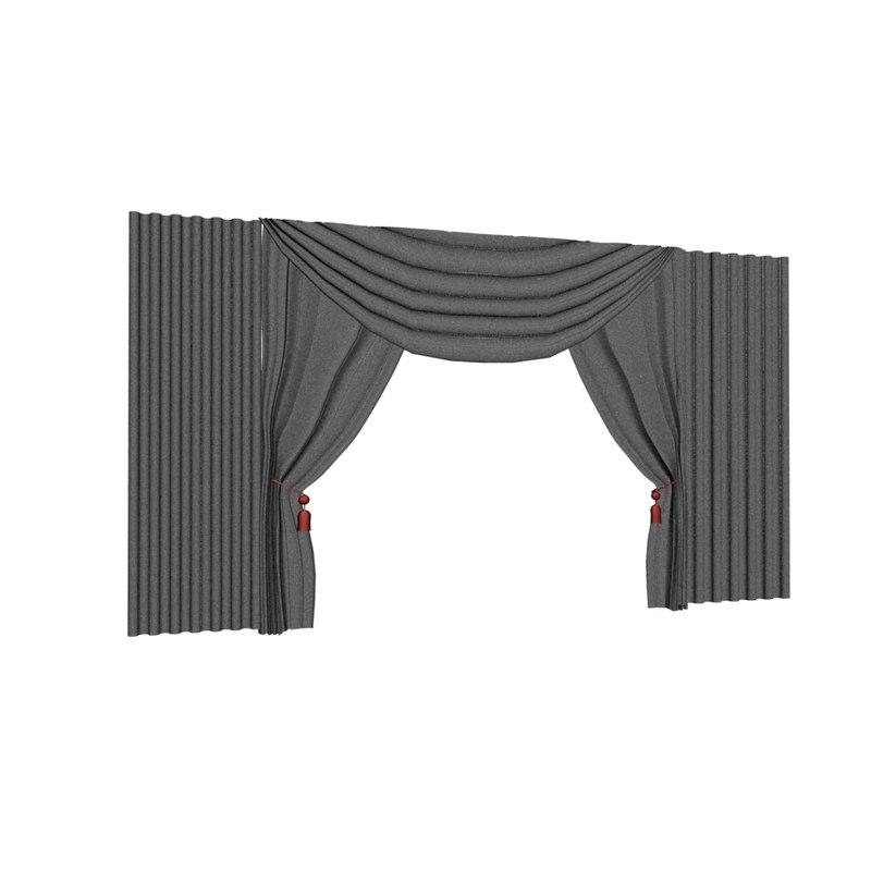 3d model curtain tassel