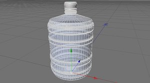 free c4d model water bootle