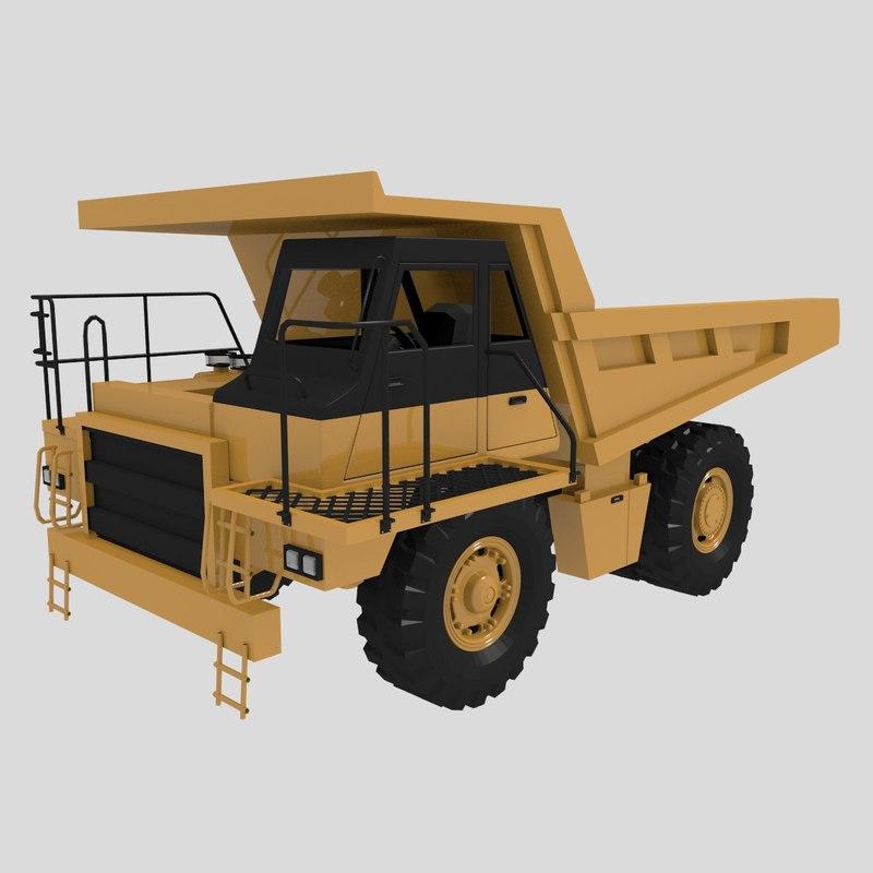 heavy cat 769d truck 3ds