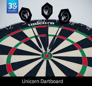 3d model unicorn eclipse pro dartboard
