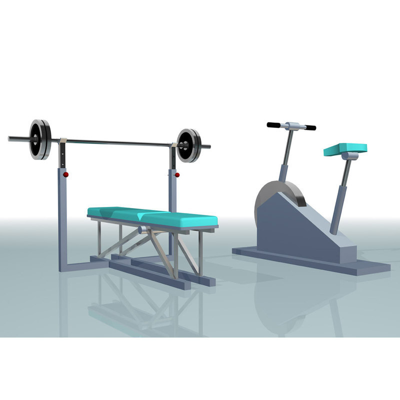 3d bench cardio trainer model