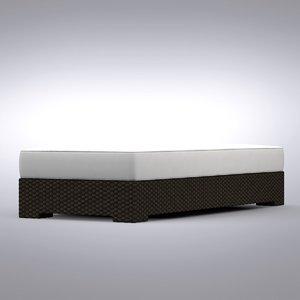 crate barrel - ventura 3d model