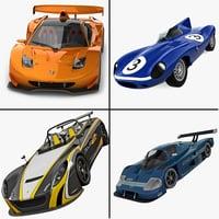 3d racing cars 5 model