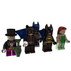 batman minifigure dxf