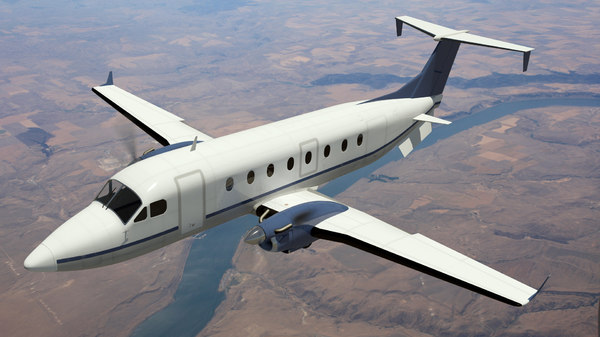 3d max beechcraft 1900d airplane