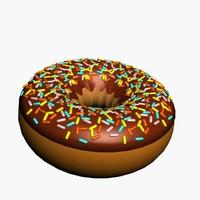 donut icing sprinkle 3d model