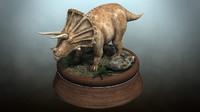 3d triceratops dinosaur model