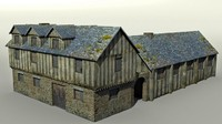 medieval guild hall 3d 3ds