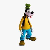 goofy figurine 3d max