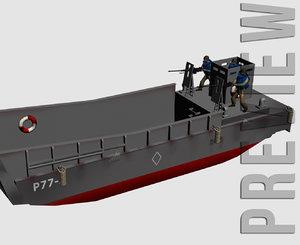 lcm3 landingcraft crew 3d model