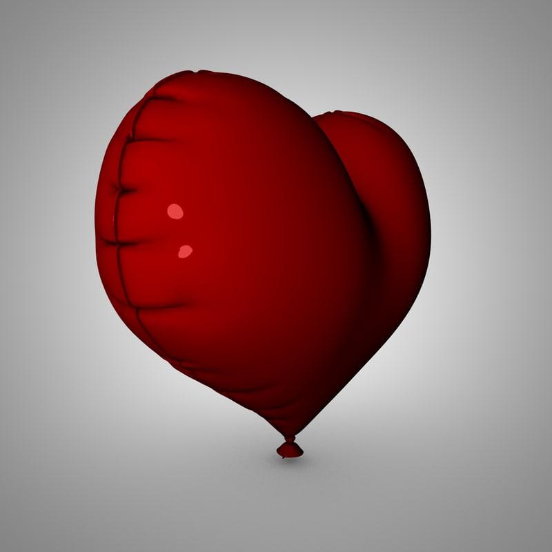 3d heart balloon