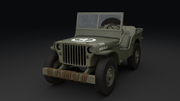 3d model 1942 willys jeep