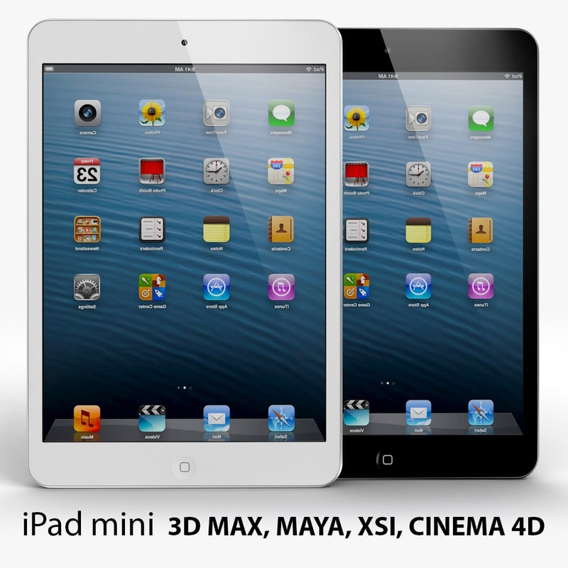 3d model apple ipad mini