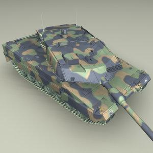 battle tank leopard2a6 3d 3ds