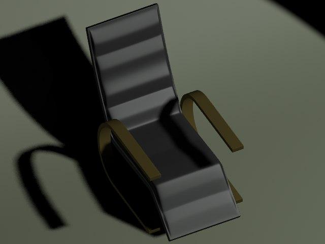 black modern chair 3ds free