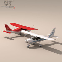 p2008 single engine 3d model