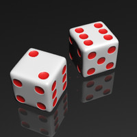 3d model dotted dice
