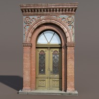 ornate door modelled 3d max