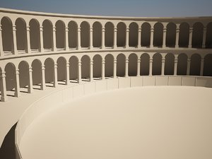 3d model simple amphitheater gladiator