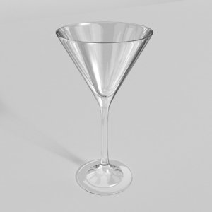 3d model martini glass
