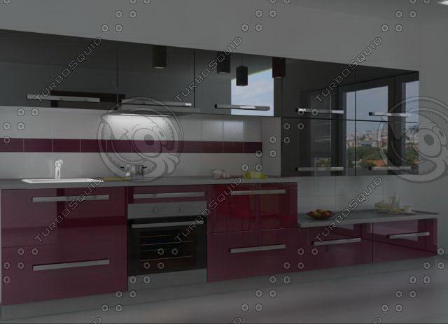 3ds max kitchen furnitures 01
