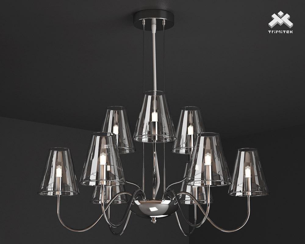 3d model silba chandelier 9l