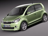 3d skoda citigo citi car