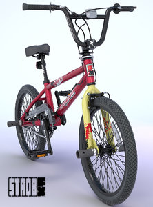 bmx bike decals rigged 3d max