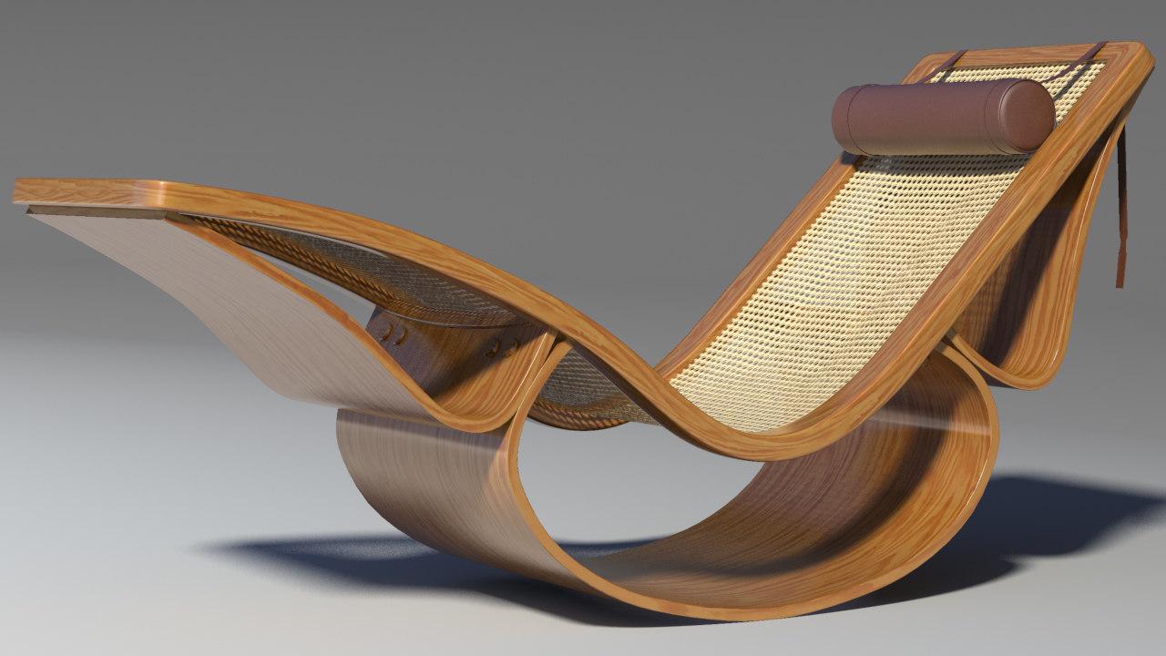 rio chaise longue 3d max