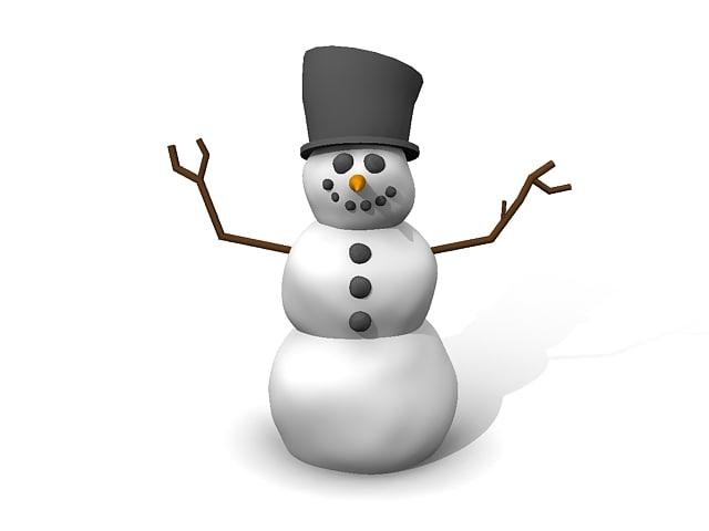 simple snowman 3d model